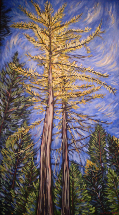 Golden Tamarack by Melanie MacVoy