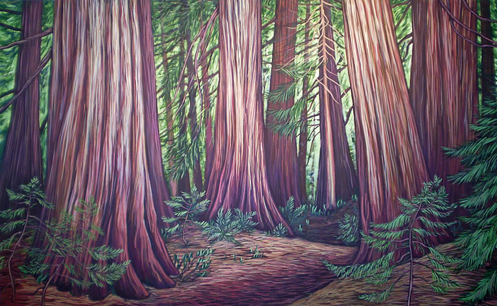 Ancient Timbers by Melanie MacVoy, Acrylic on Canvas