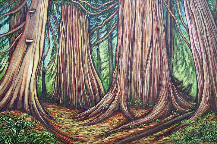 Cedar Grove by Melanie MacVoy, Acrylic on Canvas