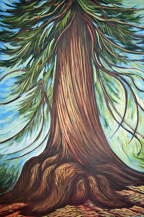 Cedar Strength by Melanie MacVoy, Acrylic on Canvas
