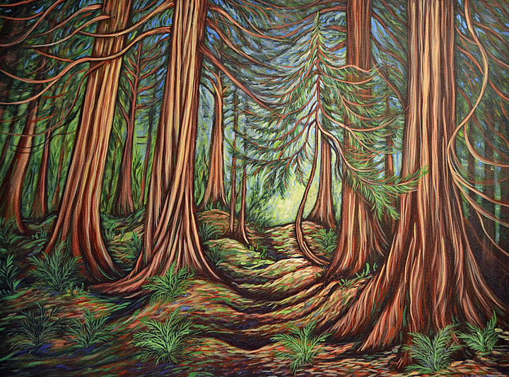 Down the Path by Melanie MacVoy, Acrylic on Canvas