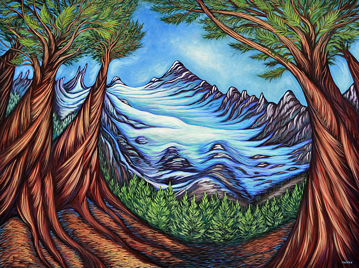 Glacial View by Melanie MacVoy, Acrylic on Canvas