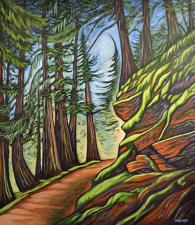 Glacier Crest Trail by Melanie MacVoy, Acrylic on Canvas
