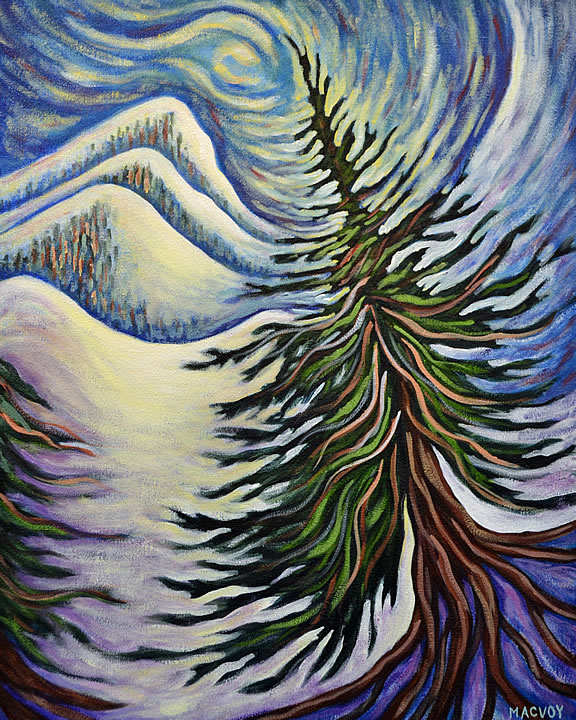 Kootenay Wave by Melanie MacVoy, Acrylic on Canvas