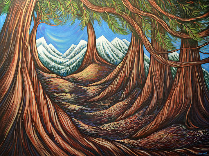 The Journey by Melanie MacVoy, Acrylic on Canvas