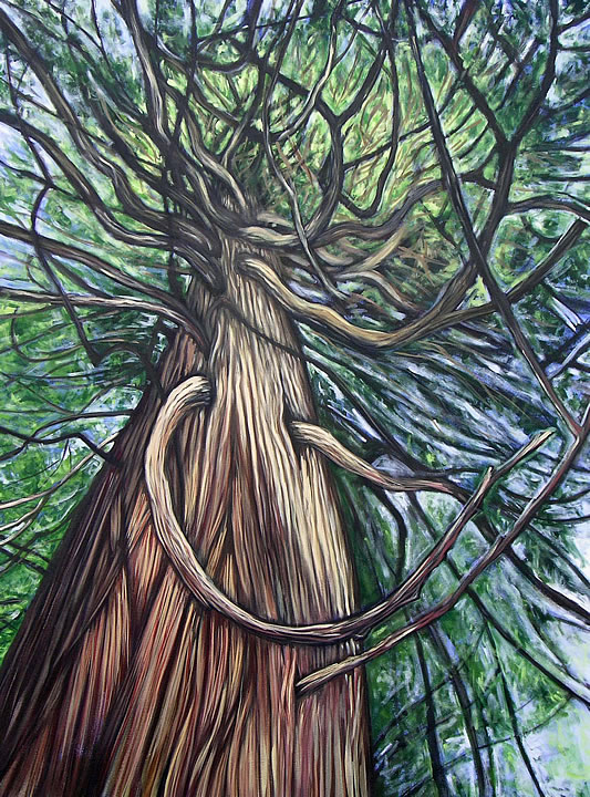 Under the Canopy by Melanie MacVoy, Acrylic on Canvas