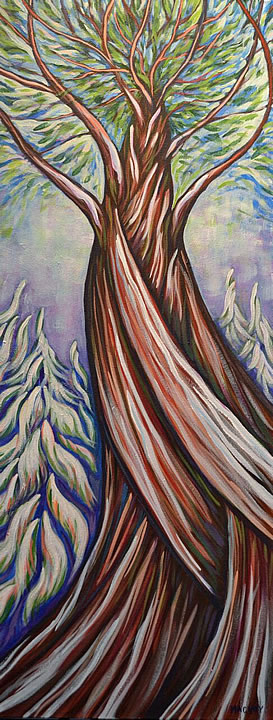 Winter Cedar by Melanie MacVoy