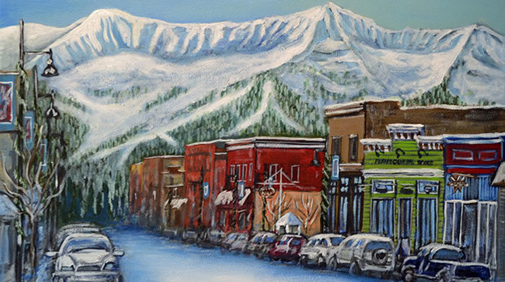 Downtown Fernie by Melanie MacVoy
