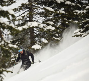 Melanie MacVoy - Skiing Powder at Island Lake Lodge, Fernie, BC